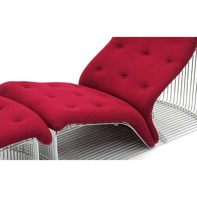 1970s Pantonova Chaise or Chair and Ottoman by Verner Panton, Fine and Rare Example For Sale - Image 5 of 9