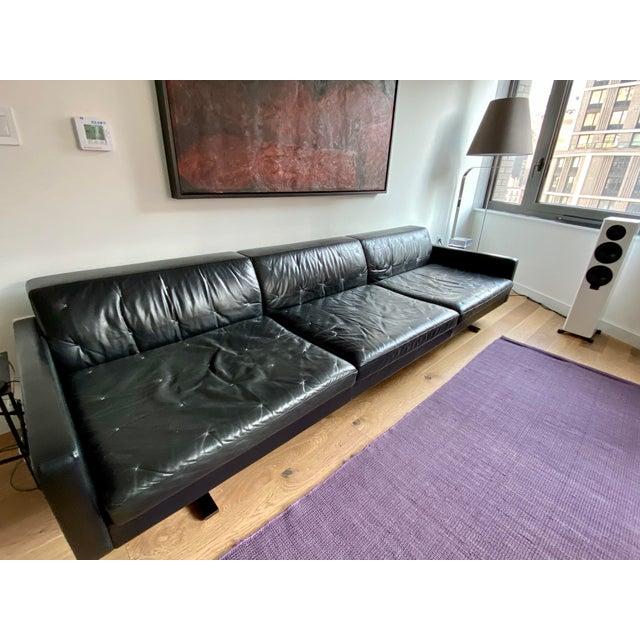 Poltrona Frau Kennedee Black Leather Sofa