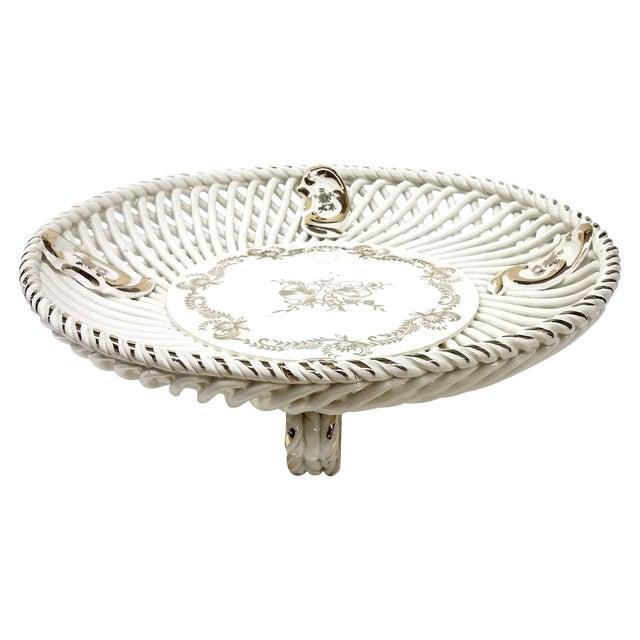 Spanish Lattice Weave Ceramic Dish - Image 1 of 11