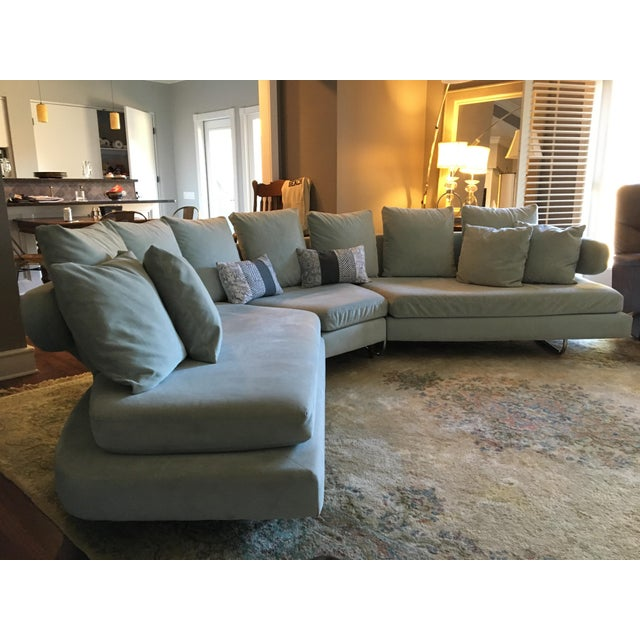 Vintage Mid Century Modern Curved Sectional Couch B&b Italia Style For Sale - Image 11 of 11
