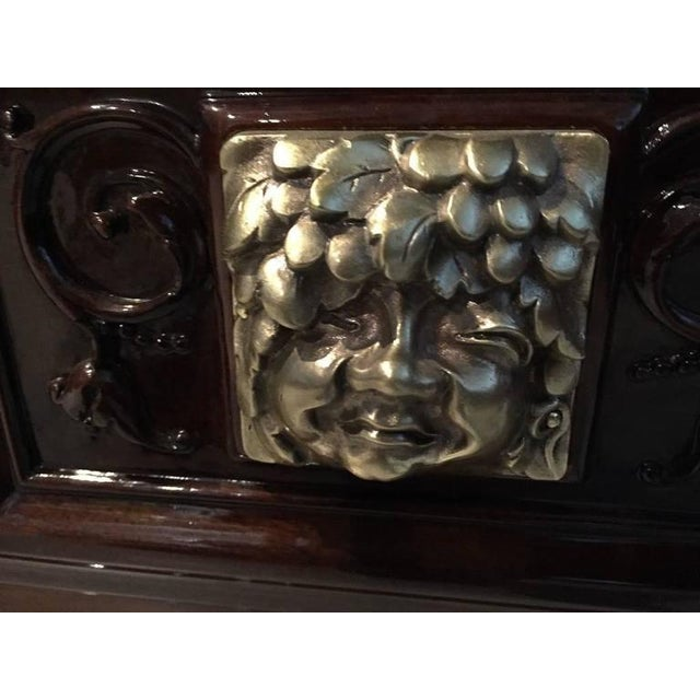 Bronze Face French Art Deco Vitrine or Dry Bar For Sale - Image 9 of 10