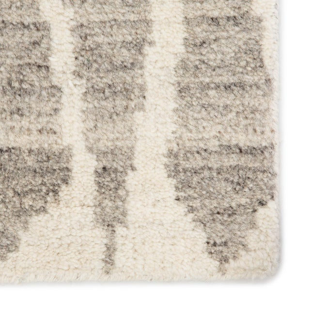 Contemporary Jaipur Living Sabot Hand-Knotted Geometric Ivory/ Light Gray Area Rug - 8′6″ × 11′6″ For Sale - Image 3 of 6