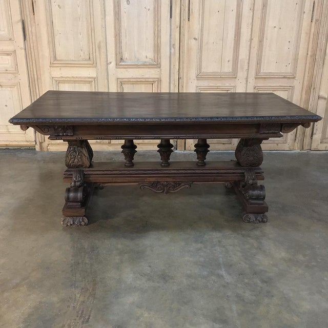 Italian Antique Italian Renaissance Walnut Desk - Dining Table For Sale - Image 3 of 11