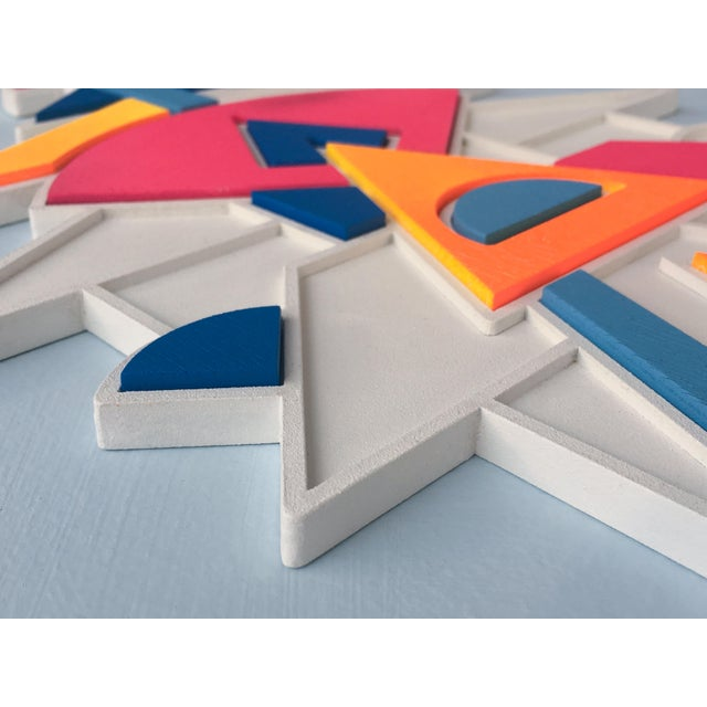 2010s Contemporary Pink Blue & Orange Artist Proof Puzzle by Chad Wentzel Made For Sale - Image 5 of 6