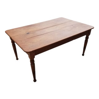 Antique Pine Farm Table For Sale