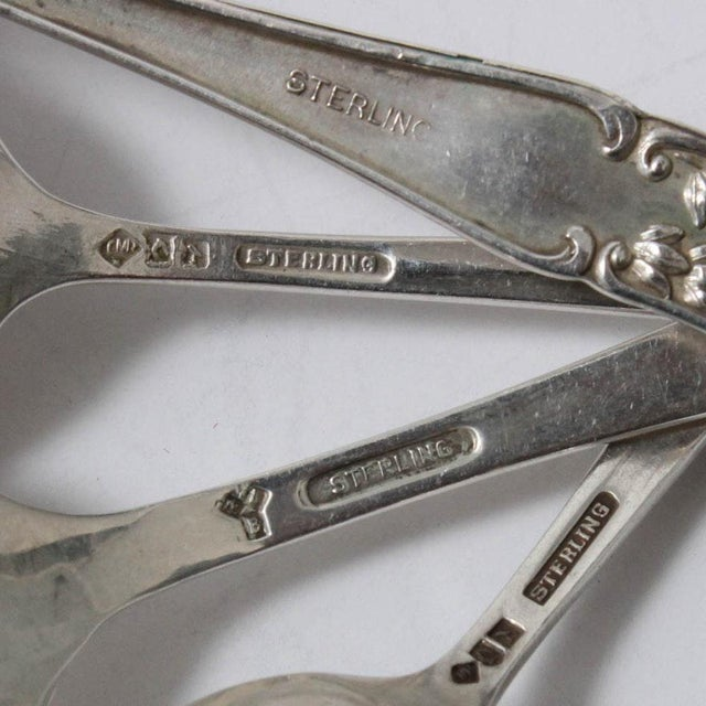 Early 21st Century Vintage Sterling Silver Souvenir Spoons - Set of 15 For Sale - Image 5 of 13