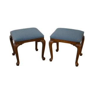 Ethan Allen Solid Maple Stools - A Pair For Sale