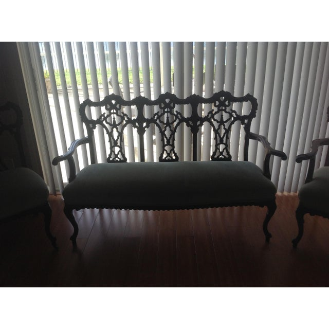 Chippendale Settee and King and Queen Chairs - Set of 3 - Image 7 of 11