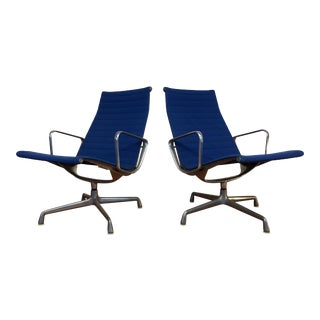 Eames Mid Century Aluminum Group Chairs for Herman Miller - a Pair For Sale