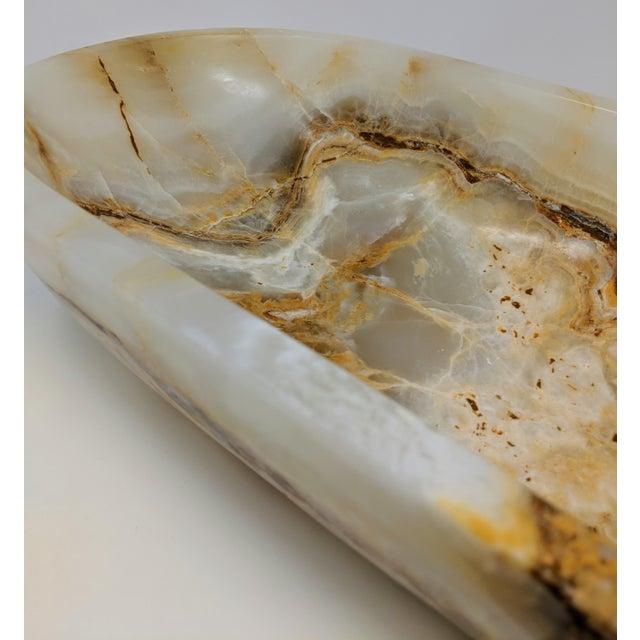 Organic Modern Onyx Decorative Bowl For Sale - Image 9 of 13