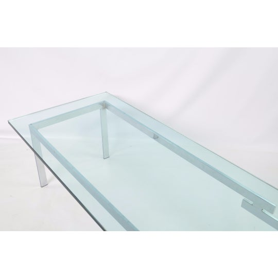 Glass & Chrome Staggered Base Coffee Table - Image 4 of 6
