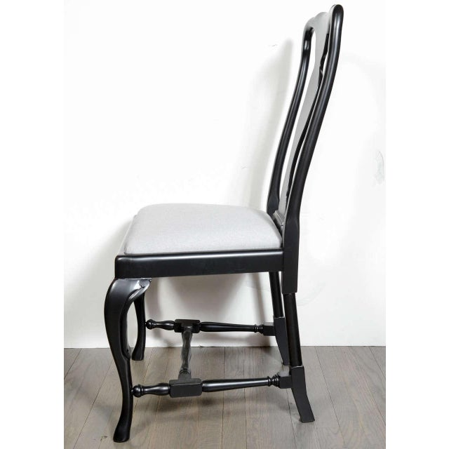 Set of Mid-Century Dining Chairs with Cabriole Detailing by Jansen For Sale In New York - Image 6 of 9