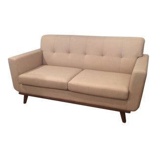 Mid-Century Ivory Loveseat For Sale