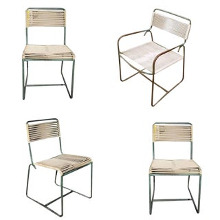 Walter Lamb Brown Jordan Outdoor/Patio Bronze Chairs - Set of 4 For Sale