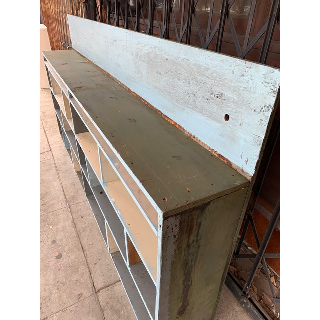 Wood 1950's Industrial Style Custom Made Cabinet For Sale - Image 7 of 9