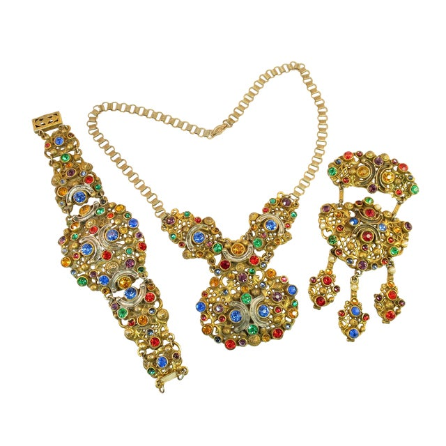 Victorian Austro-Hungarian Bejeweled Crystal Parure 1870s For Sale