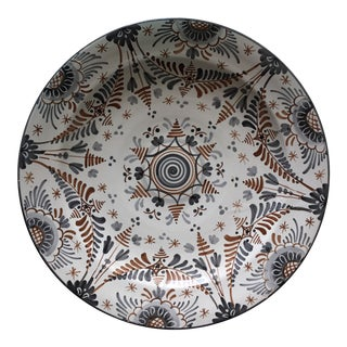 1950s Hand-Painted Spanish Decorative Wall Plate For Sale