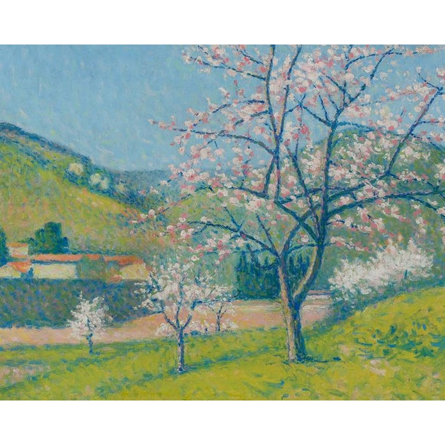 Impressionism Arbres en Fleur à Alet-les-Bains (Flowering Trees in Alet-les-Bains) For Sale - Image 3 of 6