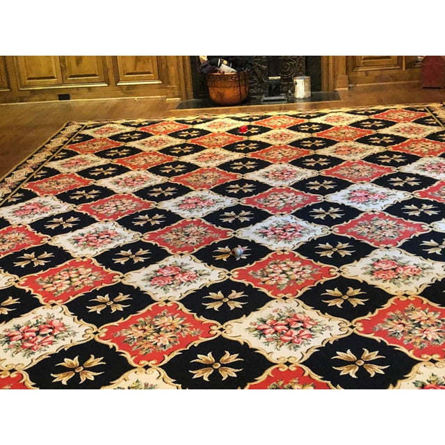 "Traditional Stark Wool Bordered Rug 16'8"" X 11'5"" For Sale - Image 3 of 10"