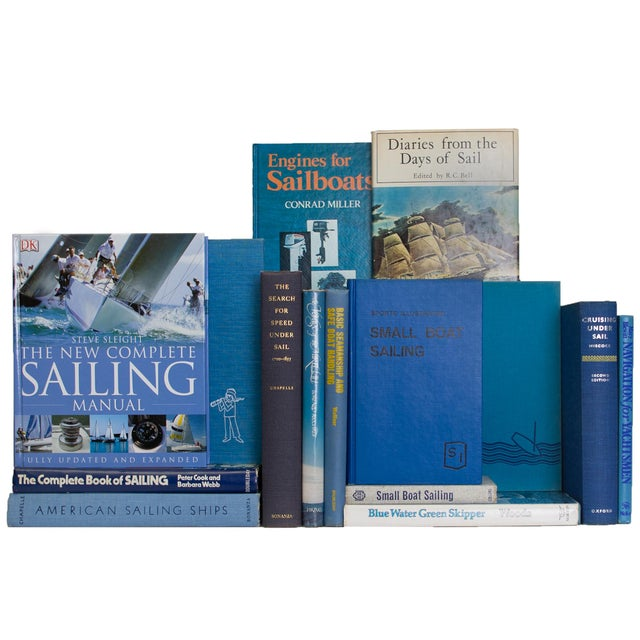 Transitional Vintage Sky Sailing Books - Set of 20 For Sale - Image 3 of 4