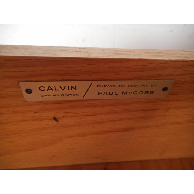 Brown Paul McCobb for Calvin Mid-Century Modern Chests - A Pair For Sale - Image 8 of 11