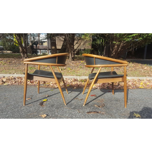 James Mont Vintage Mid-Century Lounge Chairs - A Pair - Image 2 of 7