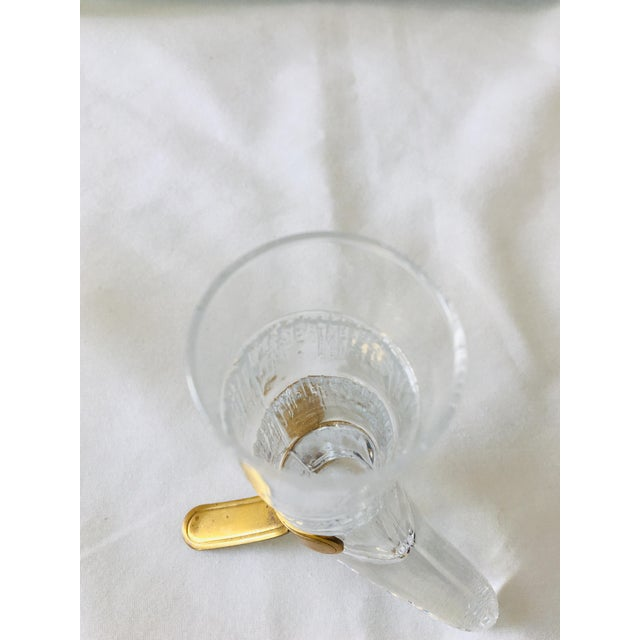 Vintage Italian Glass Horn Cups - Set of 4 For Sale - Image 11 of 13