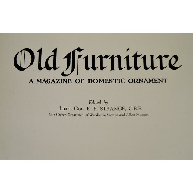 """1920s Vintage """"Old Furniture: A Magazine of Domestic Ornaments"""" Books - Set of 6 - Image 5 of 10"""