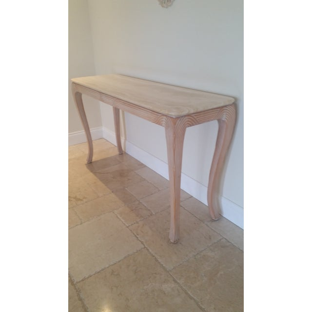 Travertine Top Console - Image 2 of 6