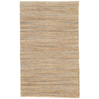 Jaipur Living Canterbury Natural Solid Beige/ Blue Area Rug - 9′6″ × 13′6″ For Sale