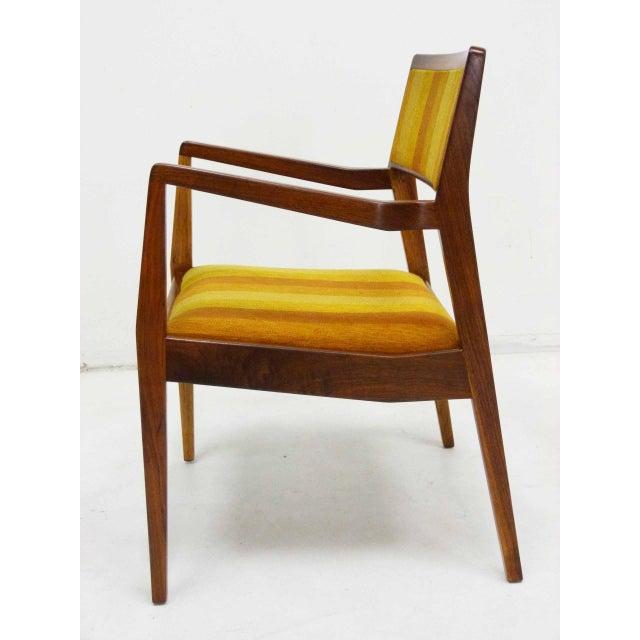 "Jens Risom Oiled Walnut ""Playboy"" Arm Chair - Image 5 of 10"