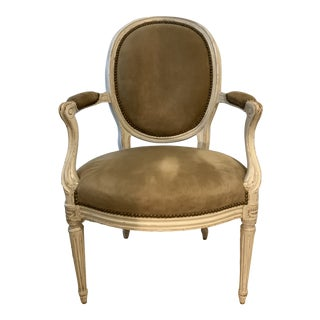 1940s Vintage Louis XV Style Fauteuil For Sale