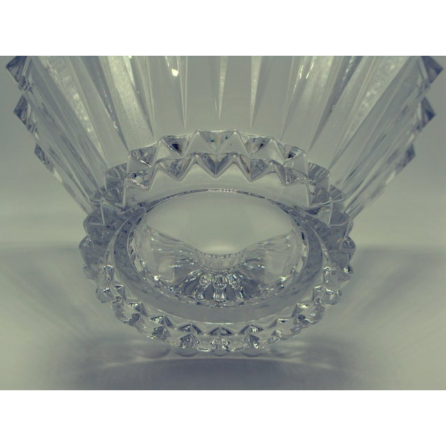 Late 20th Century German Brutalist Crystal Centerpiece Fruit Bowl For Sale - Image 5 of 10