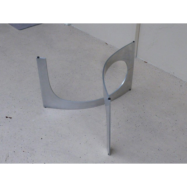 Silver Mid Century Modern Aluminum Sculptural Table by Knut Hesterberg by Bacher Tische For Sale - Image 8 of 11
