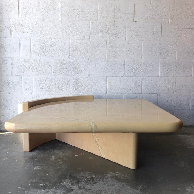 Vintage 1980s Post-Modern Bullnose Lacquered Coffee Table For Sale - Image 13 of 13
