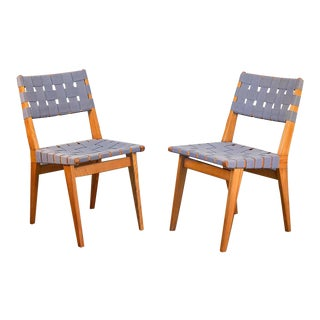 Jens Risom Side Chairs - a pair For Sale