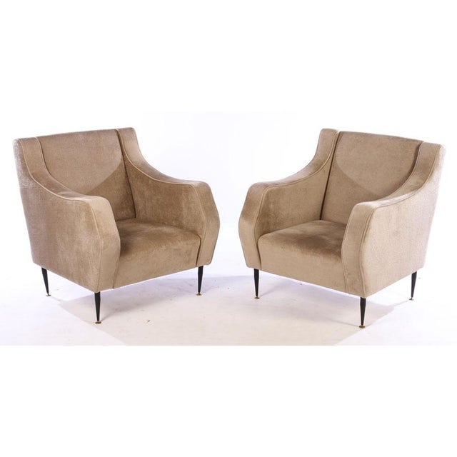 Mohair Mid Century Vintage Italian Lounge Chairs- a Pair For Sale - Image 7 of 7