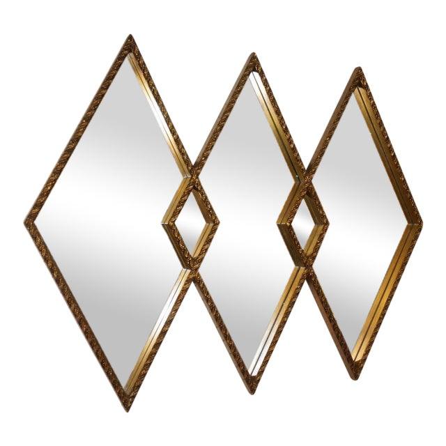 Art Deco Diamond Wall Mirror - Image 1 of 5