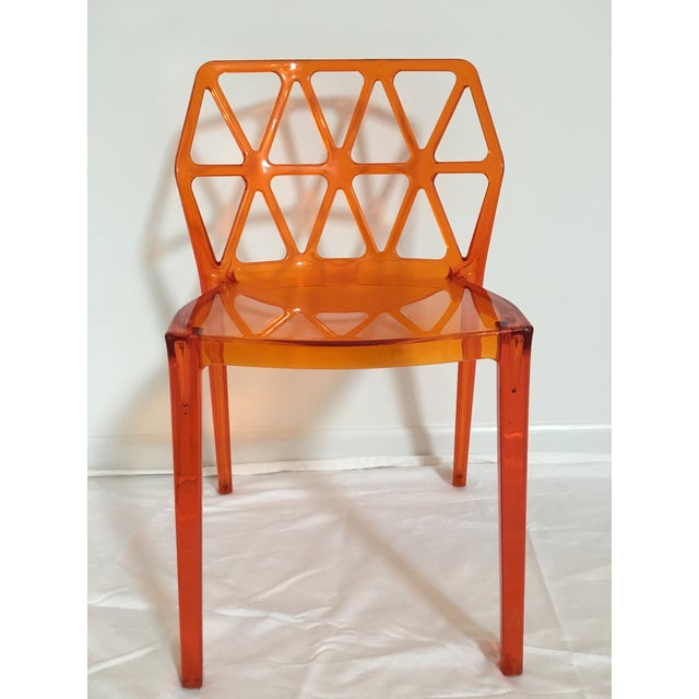 Calligaris Alchemia Dining Chairs in Orange - Set of 12 For Sale - Image 9 of 13