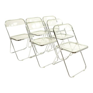 Anonima Castelli Italian Lucite Folding Chairs - Set of 6