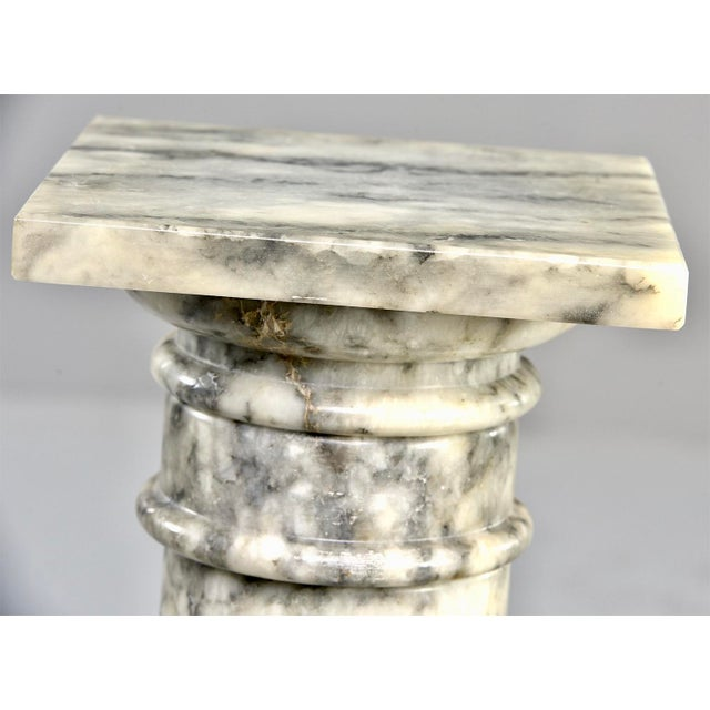 Stone Italian Carved Marble Columns or Pedestal Stands - a Pair For Sale - Image 7 of 12