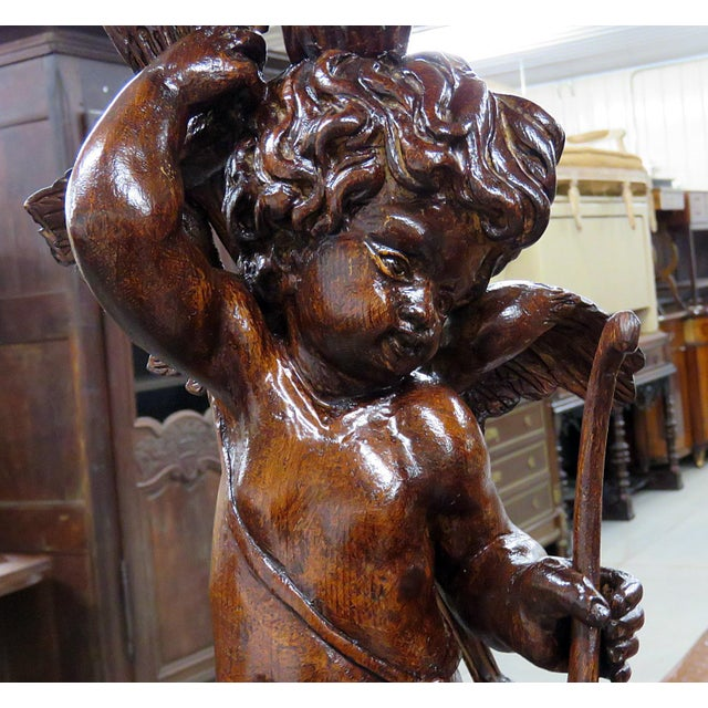 Pair of Renaissance Style Putti Pedestals For Sale - Image 4 of 7