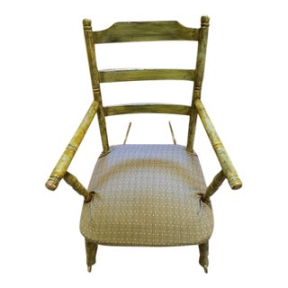Antique Rocking Chair With Blade Rockers