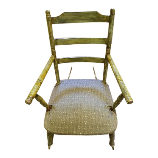 Antique Rocking Chair With Blade Rockers - Image 1 of 5