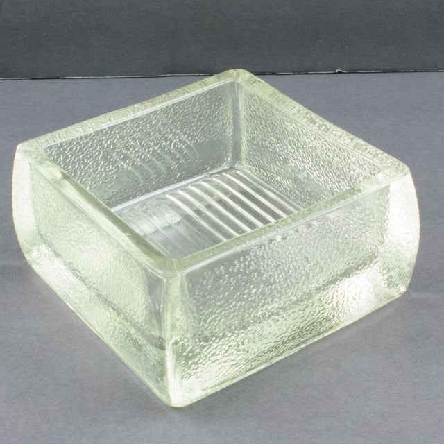 Le Corbusier for Lumax Molded Glass Catchall Ashtray For Sale - Image 11 of 13