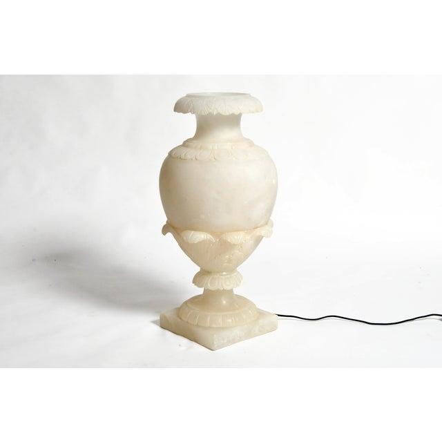 Vintage French Alabaster Jar Lamp For Sale - Image 4 of 11