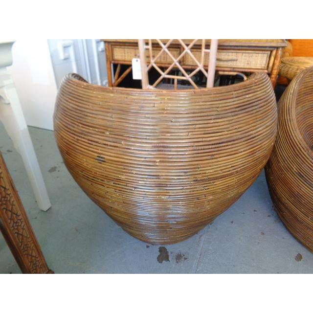 Pencil Reed Pod Chairs - A Pair - Image 4 of 6