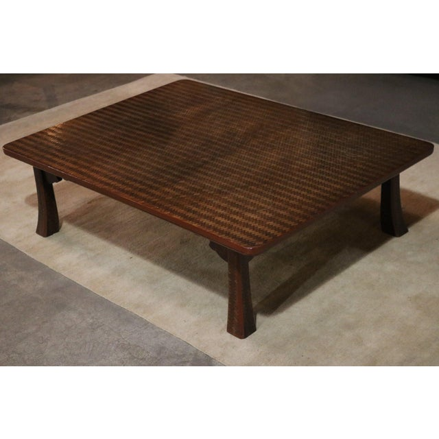 Asian Late 19th C. Japanese Ajiro Table For Sale - Image 3 of 6