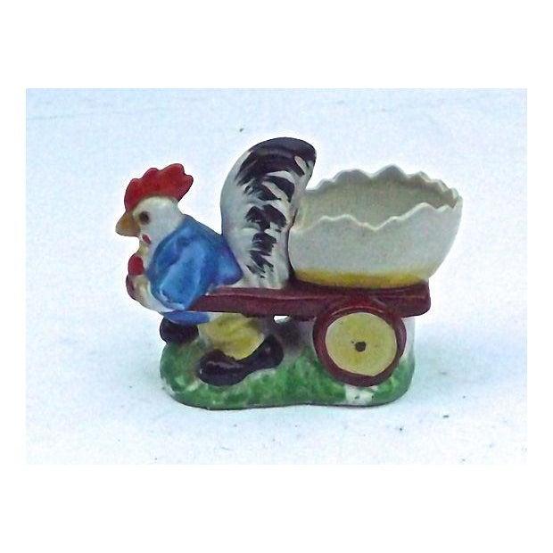 Vintage Porcelain Chicken & Cart Egg Cup - Image 2 of 5