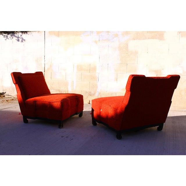 Rare James Mont Slipper Chairs - A Pair - Image 5 of 11